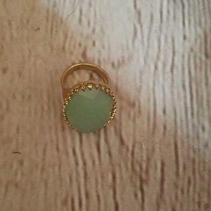 NWOT Light green Stella & dot ring